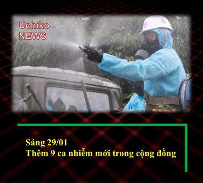 Sáng 29/01, phát hiện thêm 9 ca nhiễm COVID-19 trong cộng đồng