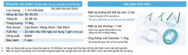 Máy tạo oxy nồng độ cao CFOC – Hg